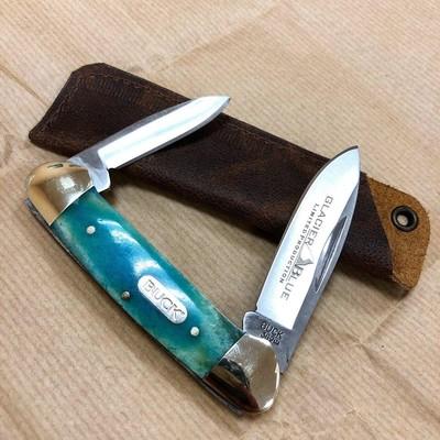 Складной нож Buck Canoe Blue Bone