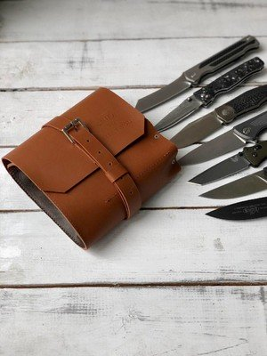 Сумка для 7 складных ножей Knife to meet you bag-roll7