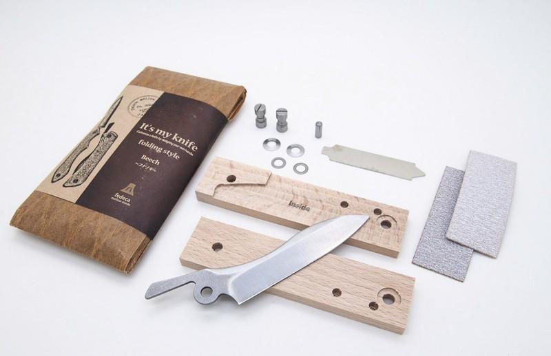 Набор для самостоятельной сборки складного ножа со стандартными накладками