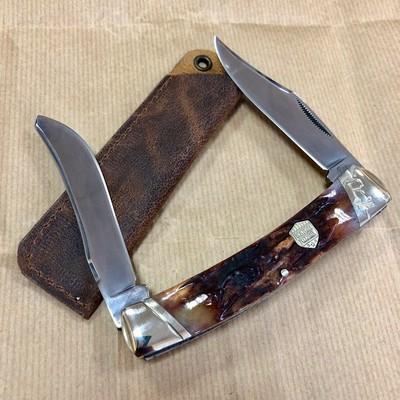 Складной нож Rough Rider Moose Stag Bone