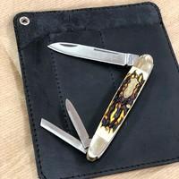 Перейдём к моделям с тремя лезвиями. Конкретно этот тип называется Cigar Whittler, есть также вариации под название Half Whittler, в которых только два лезвия. Вы также можете приобрести этот нож в комплекте с нашим фирменным чехлом, создав отличный набор для подарка. #русскийножевойинстаграм #складнойнож #slipjoint #knife