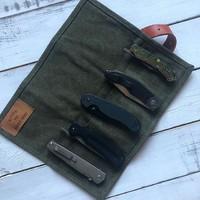 Абсолютный бестселлер - наша Сумка BAG-FIVE, в которую очень комфортно помещается 5 стандартных складных Ножей. Если понравилась именно эта- указывайте при заказе цвет «олива». #русскийножевойинстаграм #нож #сумкадляножей #knifebag