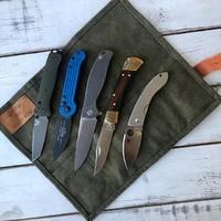 Пока мы ждём фурнитуру для новой модели, напоминаем, что Сумки BAG-FIVE в наличии у нас на сайте. Отличное решение для хранения небольшой коллекции или транспортировки ножей. #русскийножевойинстаграм #нож #складнойнож #knife #knifetomeetyou #knifeporn #сумкидляножей #скруткидляножей